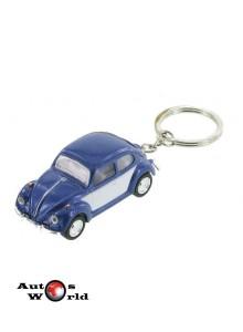 Breloc Volkswagen Beetle albastru 1967, 1:64 Kinsmart
