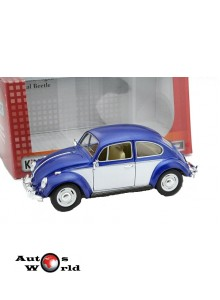 Macheta auto Volkswagen Classic Beetle albastru 1967, 1:24 Kinsmart