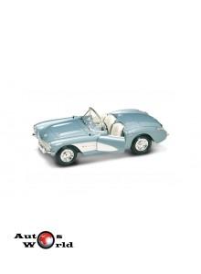 Macheta auto Chevrolet Corvette albastru 1957, 1:24 Lucky Diecast