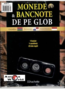 Monede Si Bancnote De Pe Glob Nr.93 - 1 butut, 1 centima, 25 rupii, Hachette