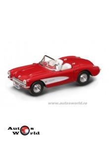 Chevrolet Corvette rosu 1957, 1:43 Lucky Diecast