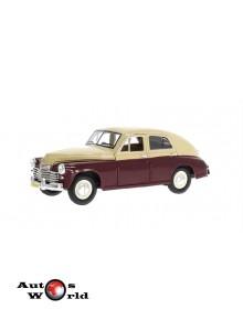 Macheta auto Gaz M20 Pobeda alb/visiniu 1946, 1:24 Lucky Diecast