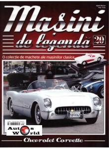 Masini De Legenda Nr.20 - Macheta auto Chevrolet Corvette 1957, 1:43 Amercom