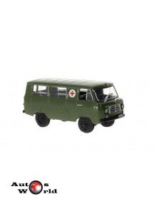 Macheta auto UAZ 450A Sanitar Van, 1:43 Deagostini/IST