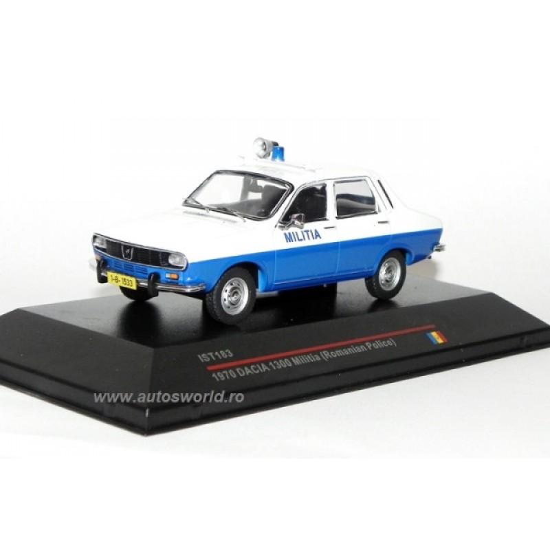 Macheta auto Dacia 1300 Militia Romana, 1:43 IST Models