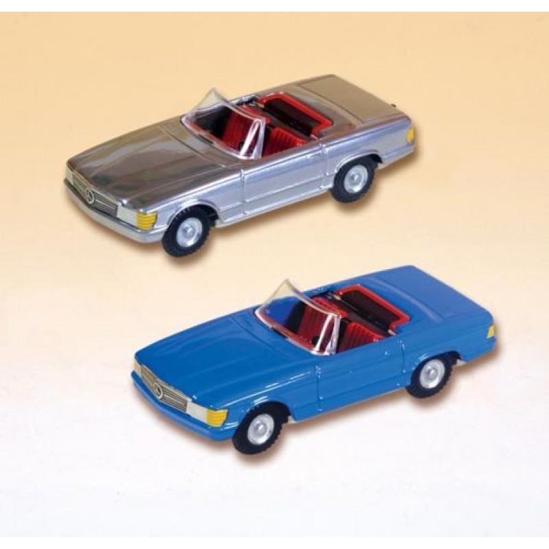 Mercedes Cabrio albastru, 1:43 Kovap