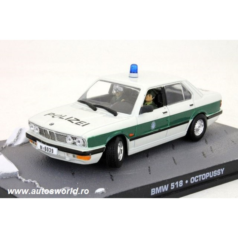 BMW 518 Polizei James Bond, 1:43 Eaglemoss