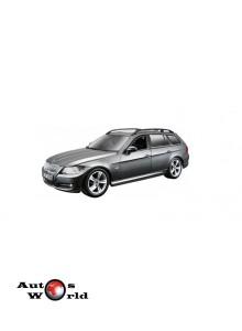 Macheta auto BMW Seria 3 E91 Touring gri, 1:24 Bburago