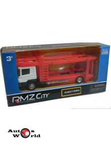 Macheta Camion Scania P transportor auto, 1:64 RMZ City