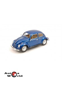 Macheta auto Volkswagen Classic Beetle albastru, 1:24 Kinsmart
