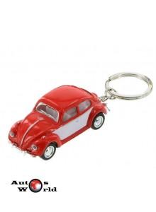Breloc Volkswagen Beetle rosu 1967, 1:64 Kinsmart