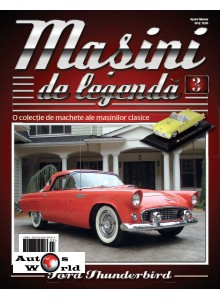 Masini De Legenda Nr. 3 - Macheta auto Ford Thunderbird 1956, 1:43 Amercom