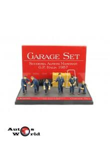 Accesorii: Set Garage Scuderia Alfieri Maserati '57, 1:43 Brumm
