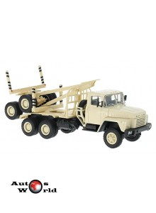 Macheta camion KrAZ 6437 transportor lemne crem, 1:43 Special Co