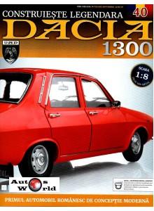 Macheta auto Dacia 1300 KIT Nr.40 - presuri interior, scara 1:8 Eaglemoss