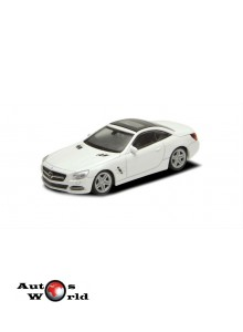 Macheta auto Mercedes Benz SL500 alb, 1:43 Welly