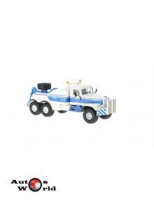 Macheta camion KrAZ 255B BRO-200 albastru, 1:43 Special Co