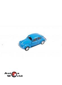 Macheta auto Volkswagen Beetle albastru, 1:43 Welly