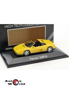 Macheta auto Ferrari 348 TS Targa 1985 galben, 1:43 Herpa