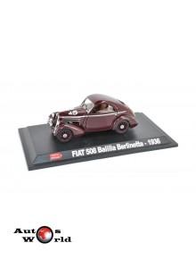 Macheta auto Fiat 508 Balilla Berlinetta #45 visiniu 1936 Mille Miglia