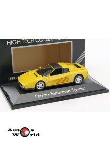 Macheta auto Ferrari Testarossa Spyder 1984 galben, 1:43 Herpa