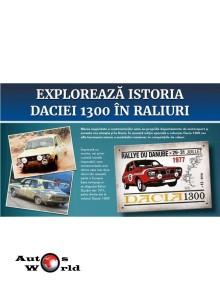Macheta auto Dacia 1300 KIT - Editie Speciala - Placuta comemorativa Raliu Dunarii 1977