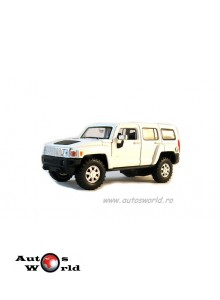 Hummer H3 alb, 1:32-36 Welly