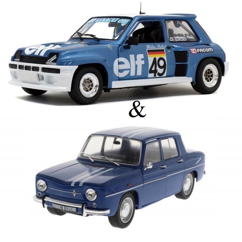PACK : Macheta auto Renault 5 Turbo - European CUP 1981 – W.ROHRL + Renault 8 Gordini / Dacia 1100 1967, 1:18 Solido