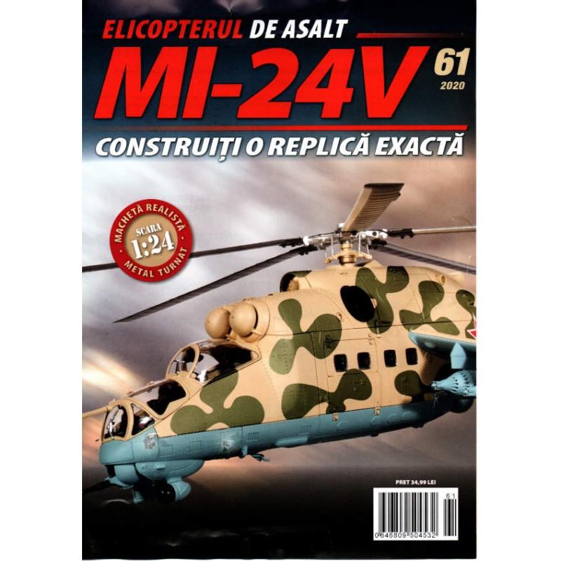 Macheta Elicopterului de asalt MI-24V nr 61, 1:24 Eaglemoss