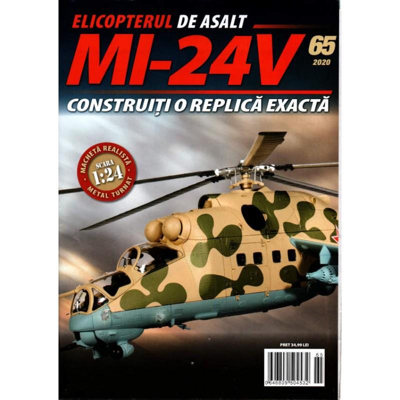 Macheta Elicopterului de asalt MI-24V nr 65, 1:24 Eaglemoss