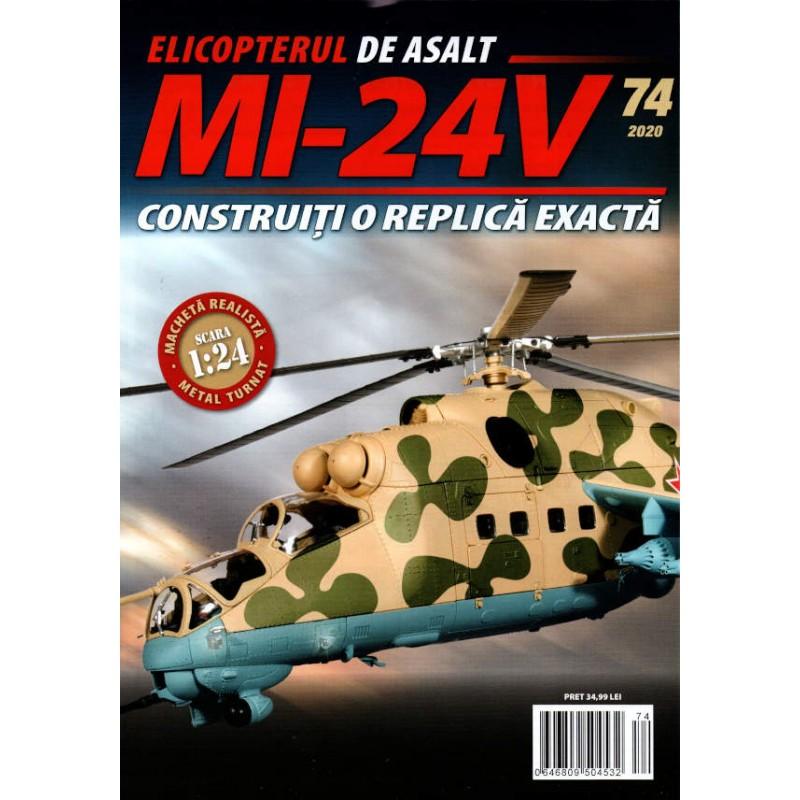 Macheta Elicopterului de asalt MI-24V nr 74, 1:24 Eaglemoss