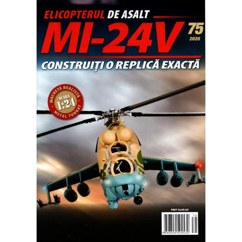 Macheta Elicopterului de asalt MI-24V nr 75, 1:24 Eaglemoss