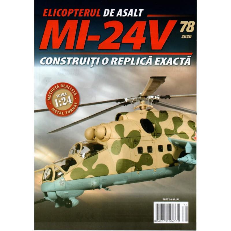 Macheta Elicopterului de asalt MI-24V nr 78, 1:24 Eaglemoss