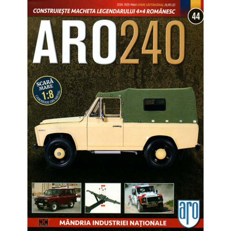Macheta auto ARO 240 KIT Nr.44 – arc suspensie, scara 1:8 Eaglemoss