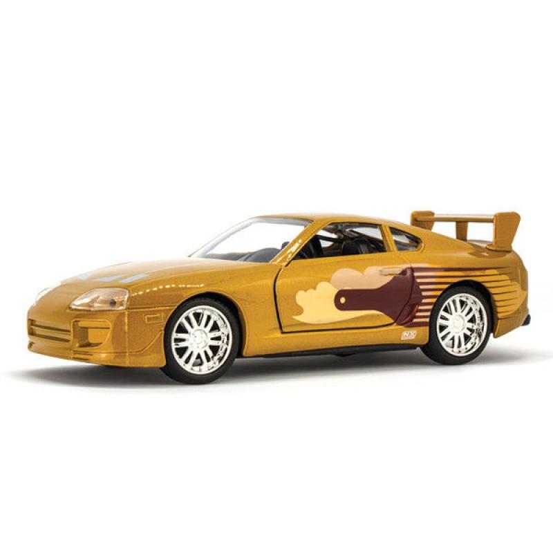 Macheta auto Toyota Supra Gold 1995 Jack Nr 28 – Fast & Furious, 1:32 Jada Libertatea