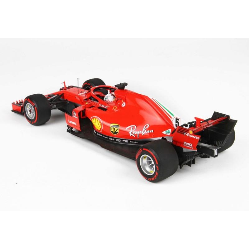 Macheta auto Ferrari F1 SF71H N5 Winner Belgia SPA GP 2018 Sebastien Vettel, LE 299 pcs, 1:18 BBR