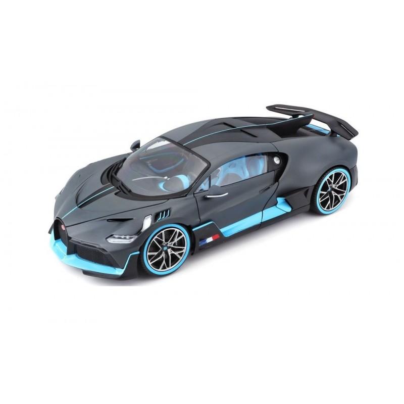 Macheta auto Bugatti Divo albastru/gri 2018, 1:18 Bburago
