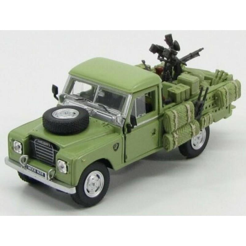 Macheta auto Land Rover land series III 109 Pick-Up Militar 1961, 1:43 Cararama