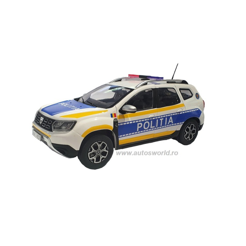 Macheta auto Dacia Duster 2 2018 Politia Romana, 1:18 Solido – Custom