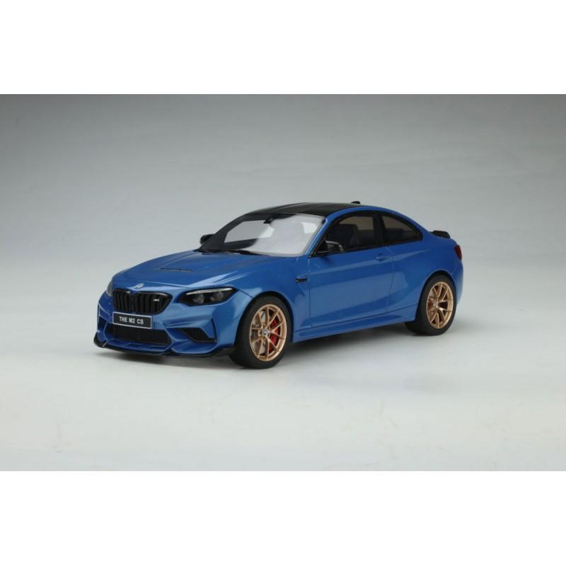 PRECOMANDA: Macheta auto BMW M2 (F22) CS 2019 albastru, 1:18 GT Spirit
