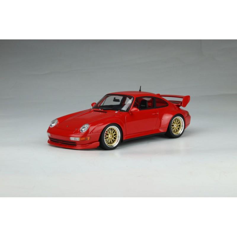 PRECOMANDA: Macheta auto Porsche 911 (993) 3.8 RSR 1996 rosu, 1:18 GT Spirit