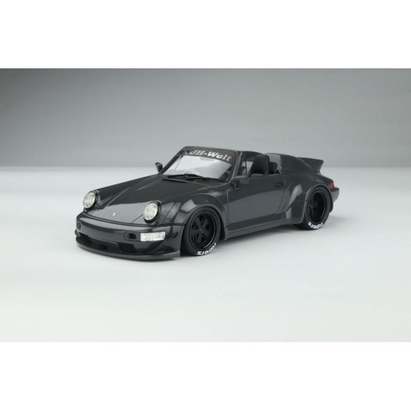 PRECOMANDA: Macheta auto Porsche RWB Body-Kit Yabai - Grigio Telesto gri, 1:18 GT Spirit