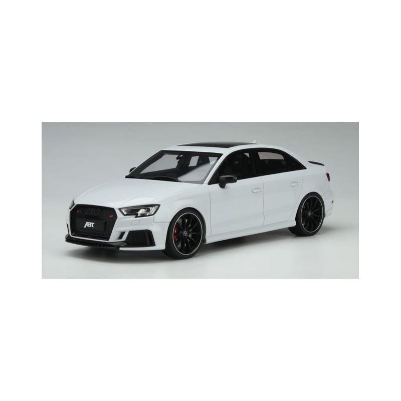 Precomanda : Macheta auto Audi RS3 ABT Sedan alb, LE 999 pcs, 1:18 GT Spirit