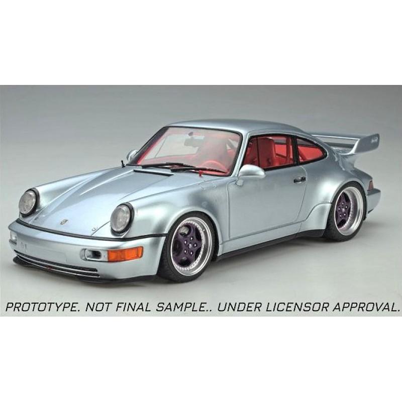 Precomanda : Macheta auto Porsche 911 964 RSR 3.8 Coupe gri 1990, LE 999 pcs, 1:18 GT Spirit