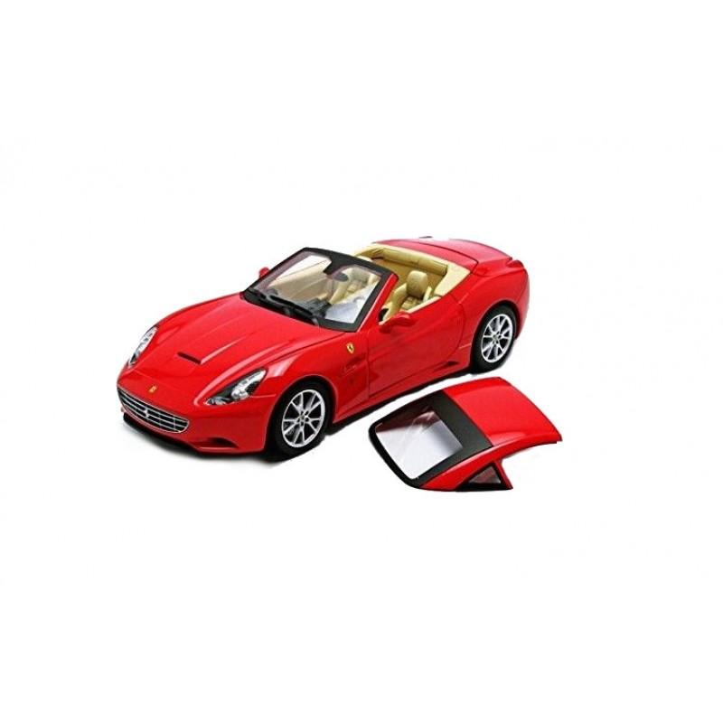 Macheta auto Ferrari California red convertible 2008, 1:18 Hotwheels