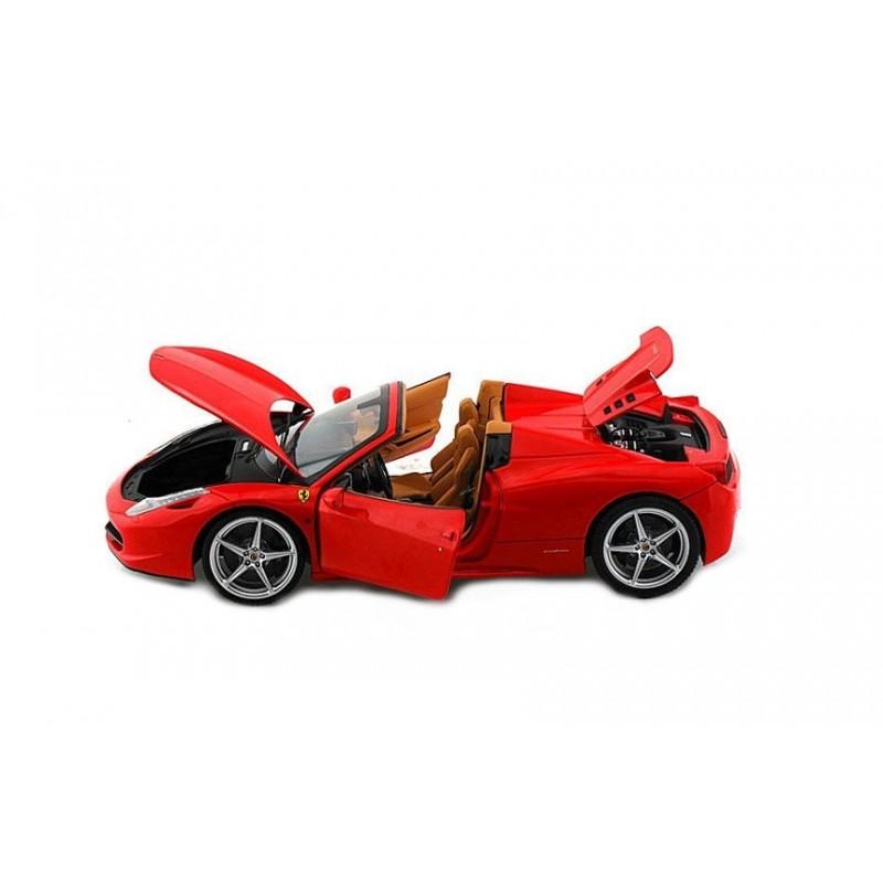 Macheta auto Ferrari 458 Italia Spider red 2011, 1:18 Hotwheels