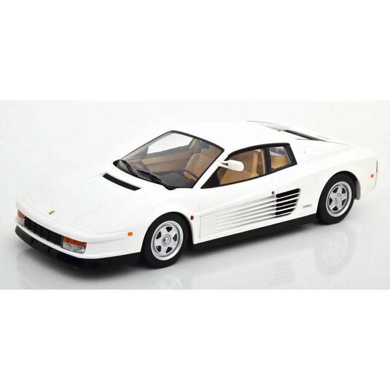 Macheta auto Ferrari Testarossa US-version alb 1984, 1:18 KK Scale