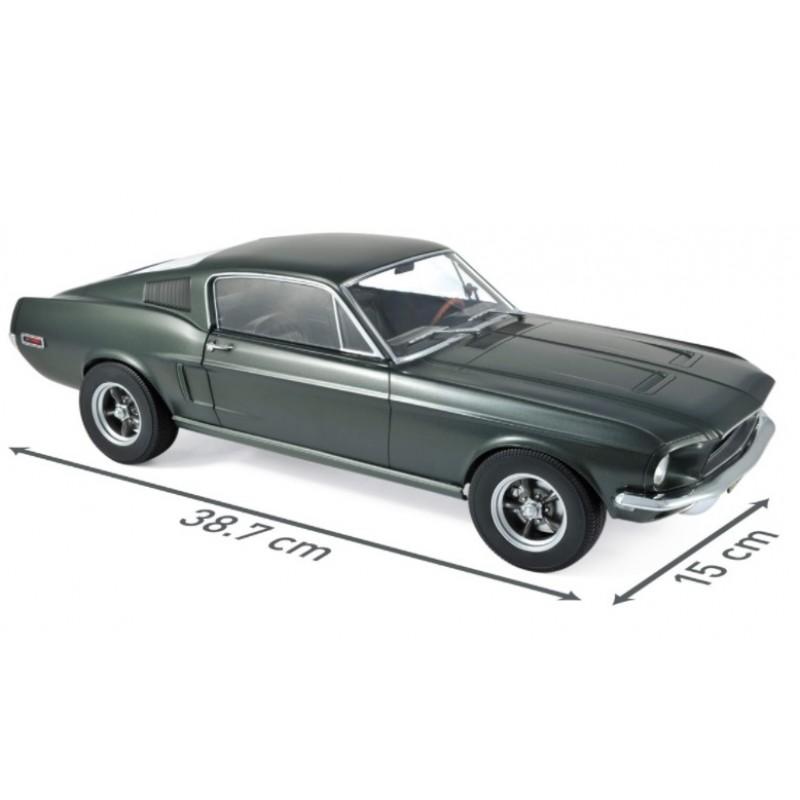 Macheta auto Ford Mustang Fastback verde 1968, 1:12 Norev