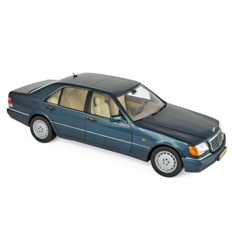 Macheta auto Mercedes-Benz S600 verde 1997, 1:18 Norev