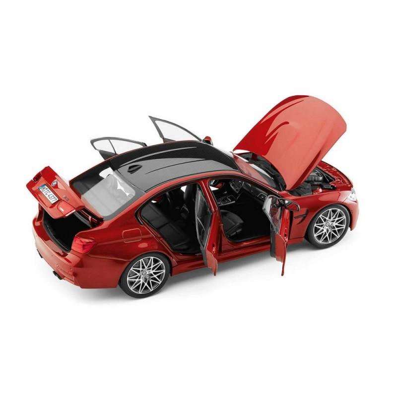 Macheta auto BMW M3 Seria 3 Competition (F80) 2016 rosu, 1:18 Norev Dealer Edition